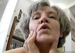 Horny granny and blonde milf Zora White having fun with one guy