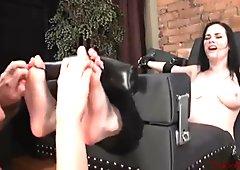 Tickled feet in stocks