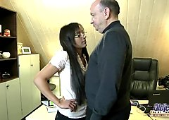Amateur old man fuck casting hot secretary wet pussy