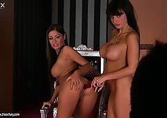 Self-confident model Aletta Ocean eats wet pussy on camera