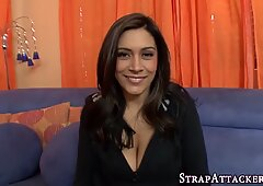 Strapon milf gets fucked
