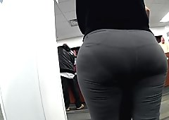 Too much ass for her panties
