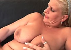 Busty MILF getting her ass filled with cum