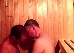 Straight Guys Sucking Dick in a Sauna
