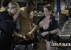 Fat cop loves getting fucked by a black big cock at the hood from a guy that she just arrested.