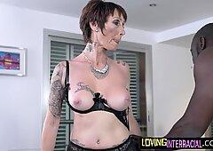 Tattooed bigtits mature deepthroating BBC