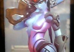 Cum Tribute to Widowmaker (Overwatch)