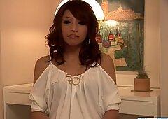 Aya Sakuraba amazes with her blowjob and tight pussy