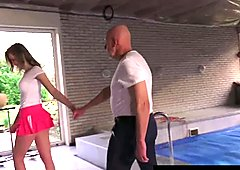 Superb teen Candice suck Raoul old dick
