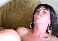 Busty babe gets her pussy demolished by a monster cock