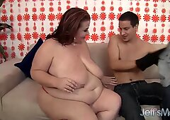 Mature BBW Lady Lynn Shows a Young Guy What Fat Fucking Is All About
