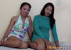 TRIKEPATROL Two Asian Friends Share Tourist Big Dick