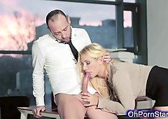 Naughty horny office blonde wants hard fucking