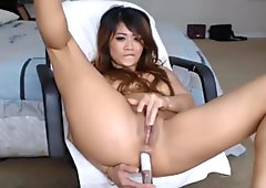 Asian Chick Playing her Pussy and Asshole