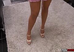 Busty MILF stepmom sent a erotic video to stepsons friend