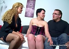 spread marked younger chick three way with grannie
