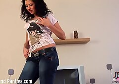 I love the way these skinny jeans hug my tight teen body