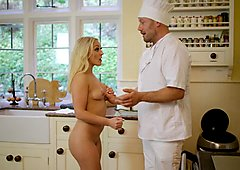 Brazzers - Amber Deen gets some dick for dinn
