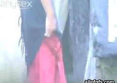 Shy Indial girl with slim body was busted with a hidden camera