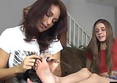 Tickling My Son's Girlfriend's Feet