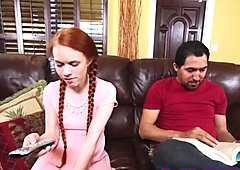 Redhead chick Dolly fucked by neighbor's dad