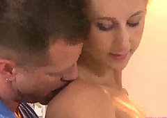 Steamy supple brunette warm massage