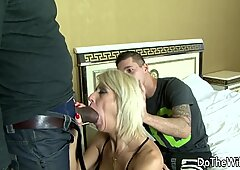 MILF Wife takes black cock in all holes