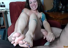 Webcam Amateur Footjob