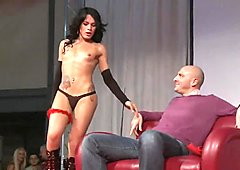 Sexy stripper loves being bad and dirty on the stage