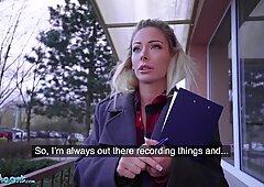 Public Agent Blonde Ozzie Isabelle Deltore fucks to save the bush