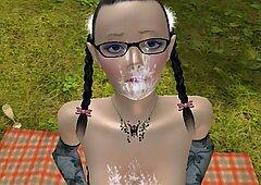 3D anime petite lipstick thai facial ponytails outdoor MGTOW