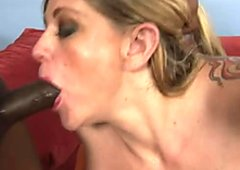 Two bootylicious moms give head to hard black dick