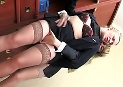 Two Lesbian Babes Lick Some Nice...