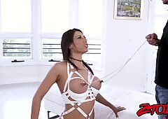 ample nips cougar Makayla Cox rides dick after some toying