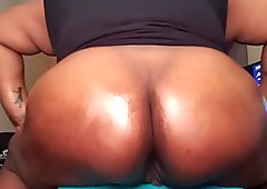 rubbing coconut oil on my fat ass