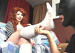 Ludella socks and foot worship