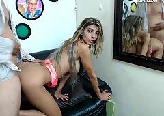 latina hot babe both holes fucked
