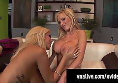 Nikki Benz &amp_ Bridgette B Fuck Cock In 3some! VNALive.com!