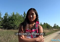 Public Agent Roadside blowjob and fuck with tight pussy hot Asian May Thai