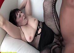chubby hairy grandma first time big cock fucked