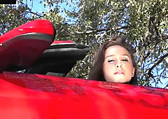 Real amateur babe fucks tow truck driver