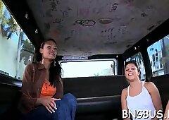 Admirable latin brunette Ashley bends over for rear fuck