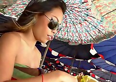 Sexy Asian teen loves to be fucked by horny tourist!