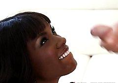 Ebony Teen Ana Foxxx Takes a Facial Cumshot