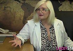 Rimmed british grandma gets anally banged