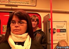 He hooks up busty mature lady in metro