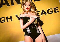 Anal creampie with blonde Roxy sex doll, latest sex dolls