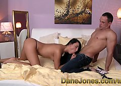 DaneJones Slim chick cant wait to get hands mouth and pussy on lovers cock